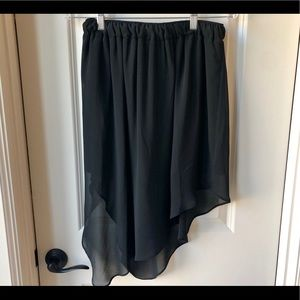 BCBGeneration Black asymmetrical skirt size small